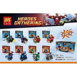 Lele 79331 Marvel Super Heroes Mighty Micros: Batman Vs. Catwoman Xếp hình 8 Siêu Anh Hùng Và Phương Tiện gồm 8 hộp nhỏ 352 khối