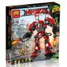 Lepin 06052 Lele 31074 Bela 10720 (NOT Lego Ninjago Movie 70615 Fire Mech ) Xếp hình Người Máy Samurai Lửa Khổng Lồ Của Kai 1010 khối