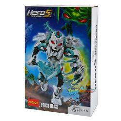 Decool 10306 Jisi 10306 XSZ KSZ 912 Xếp hình kiểu Lego HERO FACTORY FROST BEAST Hero Factory Ice Pole Mãnh Thú Frost 60 khối