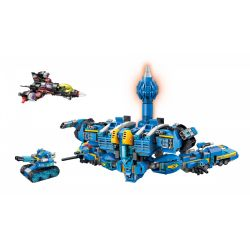Enlighten 2722 Qman 2722 Xếp hình kiểu Lego THE HIGH-TECH ERA Technology Era I Iron Apylon Siêu Người Máy Mecha Poseidon 1351 khối