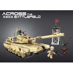 Xingbao XB-06021 (NOT Lego Across The Battlefield Across The Battlefield ) Xếp hình Xe Tăng Ra Trận Địa Quân Sự 1340 khối