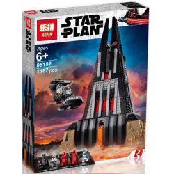 LARI 11425 LELE 35037 LEPIN 05152 Xếp hình kiểu Lego STAR WARS Darth Vader's Castle Das Vada Castle Xếp Hình Lâu đài Của Tên ác Nhân 1060 khối