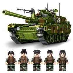 PanlosBrick 632002 Panlos Brick 632002 Xếp hình kiểu Lego CREATOR Type99 Main Battle Tank 99-style Main Tank Đội Xe Tăng Tấn Công 1339 khối