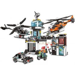 XINGBAO XB-10001 10001 XB10001 Xếp hình kiểu Lego Police Combat Headquarters Chỉ Huy Trưởng Cảnh Sát 1323 khối