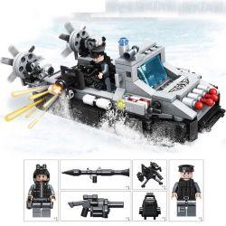 Panlosbrick 635015 (NOT Lego SWAT Special Force Gunstrike Rocket Yacht ) Xếp hình Du Thuyền Quân Sự Phóng Tên Lửa 322 khối