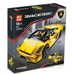 Decool 8611 Jisi 8611 YILE 011 Xếp hình kiểu Lego RACERS Lamborghini Gallardo LP 560-4 Siêu Xe Lắp được 2 Dạng 741 khối