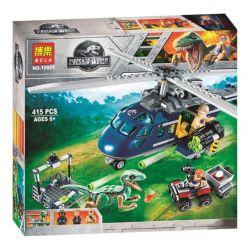 Bela 10925 Lari 10925 LELE 39115 SHENG YUAN SY 1079 Xếp hình kiểu Lego JURASSIC WORLD Blue's Helicopter Pursuit Jurassic World 2 Lost Kingdom Shenglong Bruce Helicopter Tracking Trực Thăng Truy Bắt