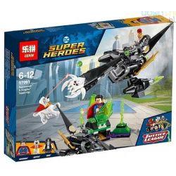 Lepin 07091 Bela 10842 (NOT Lego DC Comics Super Heroes 76096 Superman & Krypto Team-Up ) Xếp hình Superman Và Chú Chó Krypto 223 khối