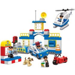 JUN DA LONG TOYS JDLT 5141A Xếp hình kiểu Lego Duplo DUPLO Polices Arresting Robber Đội Bắt Cướp 80 khối
