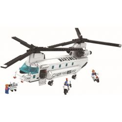 Winner 8031 (NOT Lego Thunder Air Force Thunder Air Force ) Xếp hình Máy Bay Quân Sự Marines 830 khối