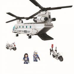 Winner 8031 Xếp hình kiểu Lego Thunder Air Force CH-47 Helicopter Thunder Air Force Slavery Máy Bay Quân Sự Marines 830 khối
