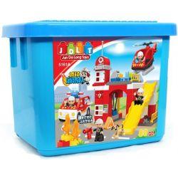 JUN DA LONG TOYS JDLT 5161A Xếp hình kiểu Lego Duplo DUPLO Fire Fighting Task Force Đội Đặc Nhiệm Cứu Hỏa 80 khối