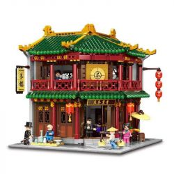 XINGBAO XB-01021 01021 XB01021 Xếp hình kiểu Lego CHINATOWN Teahouse China Street Xiangshi Tea Quán Trà Cổ Kính 3033 khối
