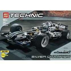 NOT Lego TECHNIC 8458 Silver Champion , YILE 303 Xếp hình Xe Đua Thể Thao Vô Địch Lắp được Thành Xe Tải lắp được 2 mẫu 1431 khối