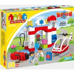 Jun Da Long Toys Jdlt 5172A (NOT Lego Duplo Rescue Crossing Victim ) Xếp hình Cấp Cứu Nạn Nhân Ngã Xe 58 khối