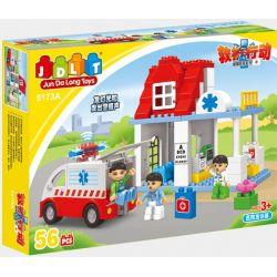 Jun Da Long Toys Jdlt 5173A (NOT Lego Duplo Building Medical Station ) Xếp hình Xây Dựng Trạm Cấp Cứu 56 khối