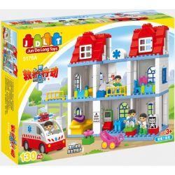 Jun Da Long Toys Jdlt 5176A (NOT Lego Duplo Look After Patients ) Xếp hình Chăm Sóc Bệnh Nhân Ở Trạm Y Tế 130 khối
