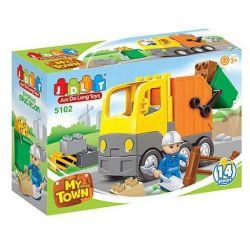 Jun Da Long Toys Jdlt 5102A (NOT Lego Duplo Engineering Road Repairs ) Xếp hình Thợ Sửa Cầu Đường 14 khối