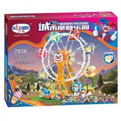 Winner 7036 (NOT Lego City Modern Paradise City Modern Paradise ) Xếp hình Đu Quay Bánh Xe Khổng Lồ 1506 khối