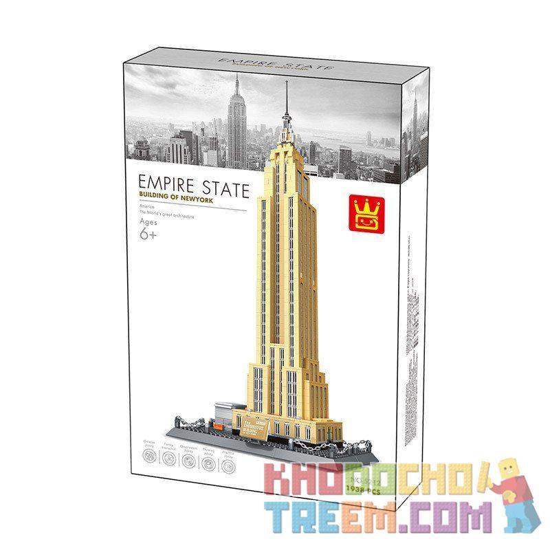 DR.LUCK 5212 WANGE 5212 Xếp hình kiểu Lego ARCHITECTURE The Empire State Building Of Newyork Empire State Building, New York, USA Tòa Nhà Chọc Trời New York 1938 khối