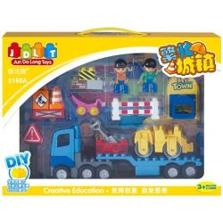 Jun Da Long Toys Jdlt 5188A (NOT Lego Duplo Hardworking Construction Engineer ) Xếp hình Chú Kỹ Sư Xây Dựng Đường Phố Chăm Chỉ