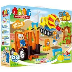 Jun Da Long Toys Jdlt 5108A (NOT Lego Duplo Kind Construction Engineers ) Xếp hình Những Chú Kỹ Sư Xây Dựng Tốt Bụng 20 khối