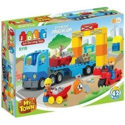 Jun Da Long Toys Jdlt 5110A (NOT Lego Duplo Building House With Engineers ) Xếp hình Xây Tòa Nhà Cùng Các Chú Kỹ Sư 42 khối