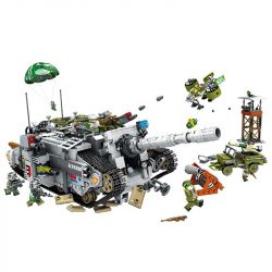 Panlosbrick 631008 (NOT Lego Justice Action Justice Action ) Xếp hình Xe Tăng Đầu Pháo Hủy Diệt 1735 khối
