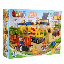 Jun Da Long Toys Jdlt 5112A (NOT Lego Duplo Great Construction For Human ) Xếp hình Công Trình Xây Dựng Khổng Lồ 53 khối