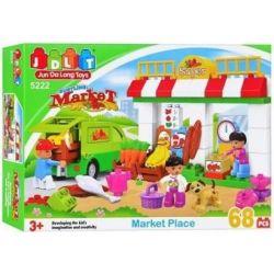 Jun Da Long Toys Jdlt 5222A (NOT Lego Duplo Variety Of Food In A Kiosk ) Xếp hình Quầy Chợ Đa Dạng 68 khối