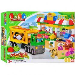 Jun Da Long Toys Jdlt 5225A (NOT Lego Duplo Bustling Fair ) Xếp hình Phiên Chợ Tấp Nập 86 khối