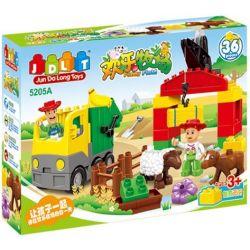 Jun Da Long Toys Jdlt 5205A (NOT Lego Duplo Sheep Farm ) Xếp hình Nông Trại Chăn Cừu 36 khối