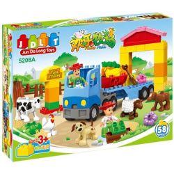 Jun Da Long Toys Jdlt 5208A (NOT Lego Duplo Giant Farm ) Xếp hình Nông Trang Rộng Lớn 58 khối