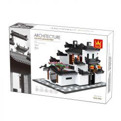 Wange 5310 (NOT Lego Architecture China Hui-Style Architecturet ) Xếp hình Kiến Trúc Nhà Trung Quốc 1575 khối