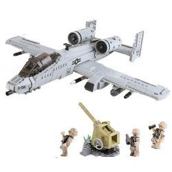 XINGBAO XB-06022 06022 XB06022 Xếp hình kiểu Lego ACROSS THE BATTLEFIELD Across The Battlefield A10 A10 Attack Machine Quân đội Thế Chiến II A10 961 khối