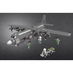 Xingbao XB-06023 (NOT Lego Across The Battlefield Across The Battlefield:ac130 ) Xếp hình Máy Bay Chiến Đấu Ac130 1713 khối