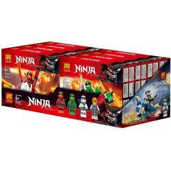 LELE 31108 31108A 31108B 31108C 31108D Xếp hình kiểu THE LEGO NINJAGO MOVIE Ninja Long Ying Edition 4 Models Phi Thuyền Chiến đấu Của Các Ninja gồm 4 hộp nhỏ 929 khối