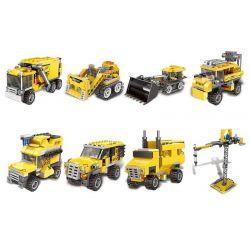 Xingbao XB-13002 (NOT Lego Creator 3 in 1 Giant Excavator ) Xếp hình Các Mẫu Phương Tiện Công Trình gồm 8 hộp nhỏ lắp được 3 mẫu 899 khối