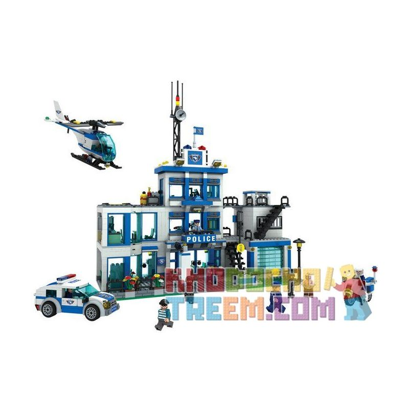 Winner 7006 Xếp hình kiểu Lego City Police Urban Police Police Headquarters Trụ Sở Cảnh Sát Thành Phố 1208 khối