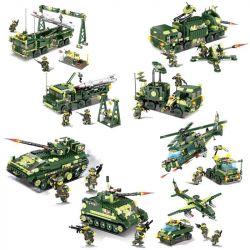 Kazi KY84057 84057 KY84058 84058 KY84059 84059 KY84060 84060 Xếp hình kiểu Lego FIELD ARMY Field Troops Carrying The Chariot, 4 Models Các Phương Tiện Quân Sự gồm 4 hộp nhỏ 2392 khối