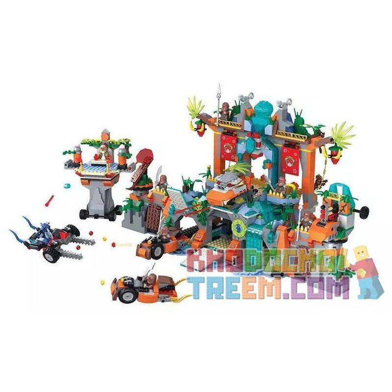 Winner 5042 Xếp hình kiểu Lego MONKIE KID Fantasy Westward Journey The Water Curtain Cave Wei Music Magic Westward Journey Water Curtain Hole Thủy Liêm Động 1538 khối