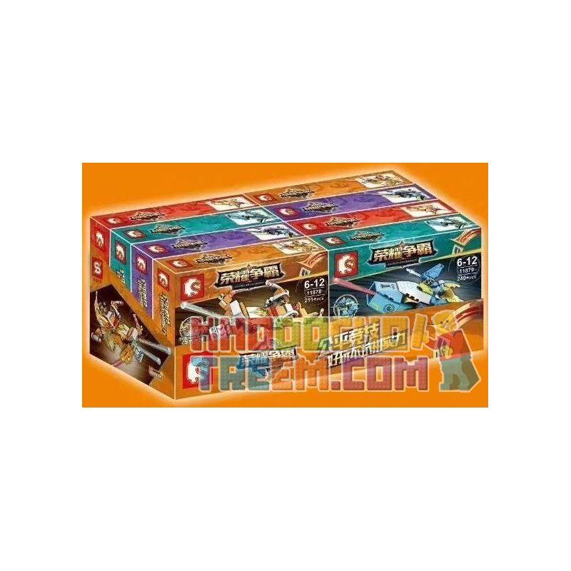SEMBO 11878 11879 11880 11881 Xếp hình kiểu Lego KING OF GLORY HEGEMONY Gun 4 Models Vũ Khí Tối Thượng gồm 4 hộp nhỏ 884 khối