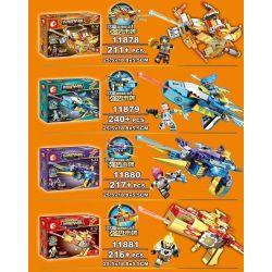SEMBO 11878 11879 11880 11881 Xếp hình kiểu Lego KING OF GLORY HEGEMONY Glory For Hegemony Gun 4 Vũ Khí Tối Thượng gồm 4 hộp nhỏ 884 khối