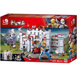 Sluban M38-B0620 (NOT Lego Castle Battle Of Assassin Ninja ) Xếp hình Trận Chiến Của Ninja Sát Thủ 877 khối