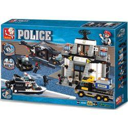 Sluban M38-B2300 (NOT Lego SWAT Special Force High Technology Investigation Department ) Xếp hình Cục Điều Tra Công Nghệ Cao 876 khối