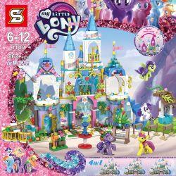 SHENG YUAN SY 1102 Xếp hình kiểu Lego MY LITTLE PONY Pony Bao Li Friend Castle 4in1 Lâu đài Của Ngựa Pony 862 khối