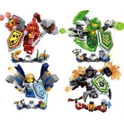 Sheng Yuan 722 SY722 (NOT Lego Nexo Knights Ultimate Macy Aaron Robin General Magmar ) Xếp hình 4 Nhân Vật Siêu Cấp gồm 4 hộp nhỏ 365 khối