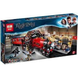 Bela 11006 Lari 11006 BLANK 40005 9001 KING 83033 LELE 39146 LEPIN 16055 16055 Xếp hình kiểu Lego HARRY POTTER Hogwarts Express Harry Potter Hogworth Express Train Tàu Vận Chuyển Hogwarts 801 khối