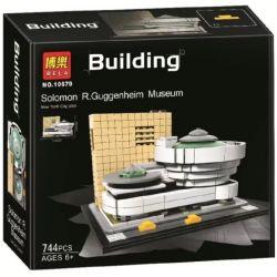 Bela 10679 (NOT Lego Architecture 21035 Architecture:solomon R. Guggenheim Museum ) Xếp hình Bảo Tàng Guggenheim 744 khối