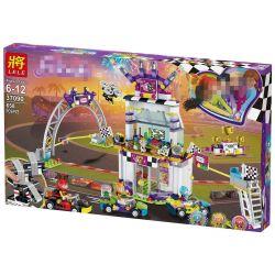 Lele 37090 Sheng Yuan 1188A 1188D Lepin 01072 Bela 11040 Sheng Yuan 1160 (NOT Lego Friends 41352 The Big Race Day ) Xếp hình Ngày Hội Đua Xe 648 khối
